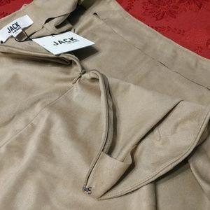 fbb73961b2 Jack by BB Dakota Skirts - NWT Jack by BB Dakota Khan Faux Suede Ruffle  Skirt